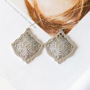 Kendra Scott Kirsten Silver Filigree earrings New